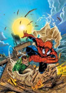 Spectacular Spider-man Comic coloured by Junior Tomlin for Marvel