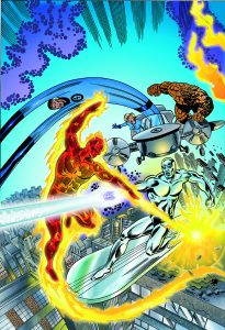 Fantastic Four coloured by Junior Tomlin for Marvel Comics