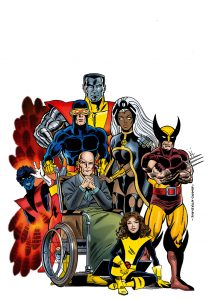 X-Men Comic coloured by Junior Tomlin for Marvel