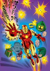 Iron Man coloured by Junior Tomlin for Marvel Comics